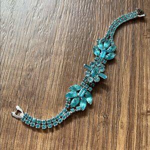 VINTAGE Sky Blue Crystal Bracelet